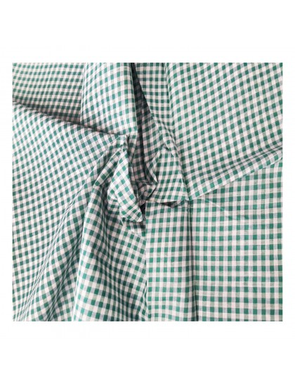 Khadi India Men's Casual Cotton Shirt Material (White & Green)