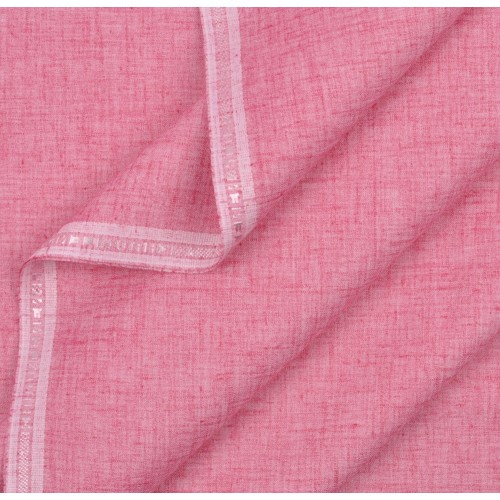 Khadi India Men's Poly Cotton Shirt Material (Pink)