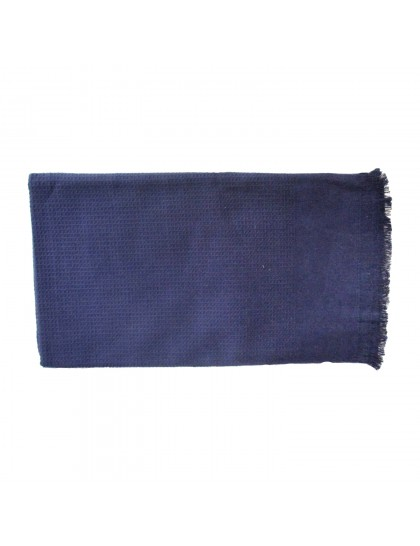 Khadi India Cotton Bath Towel (Blue)
