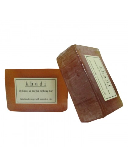 Khadi India Shikakai & Reetha bathing Bar 125gX2 (Pack Of 2)