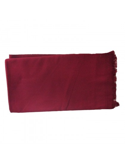 Khadi India Cotton Bath Towel (Maroon)