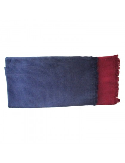 Khadi India Cotton Bath Towel -Blue/Maroon (2pcs Combo)