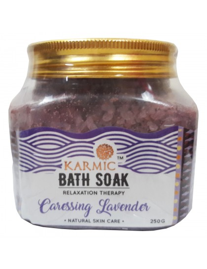 Khadi India Karmic Bath Soak Relaxation Therapy Caressing Lavender (250g)