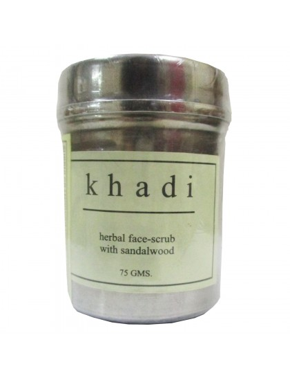 Khadi India Herbal Face-Scrub with Sandalwood  (75g)