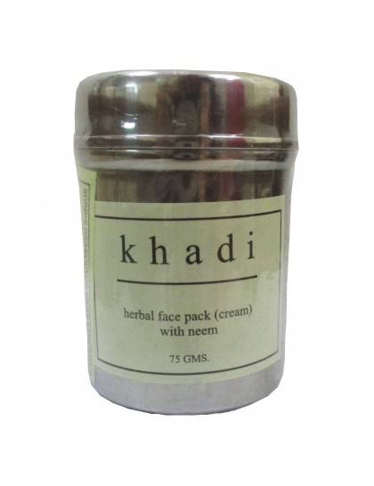 Khadi India Herbal Face Pack (Cream) With Neem (75g)