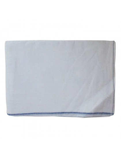Khadi India Men's White Cotton Dhoti (Free Size)