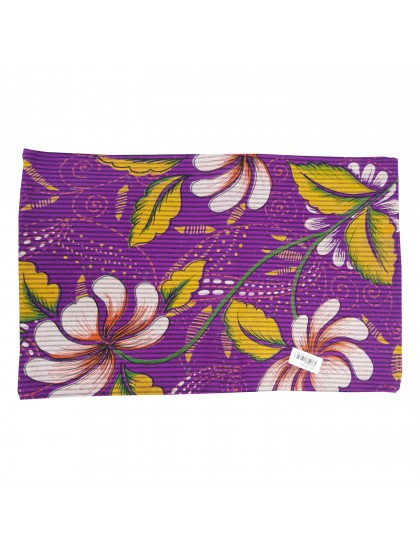Khadi India Cotton 3-D Reactive Flower Printed Single Bedsheet With Pillow Cover (Purple)
