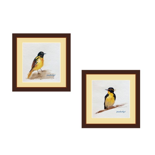 Beautiful Bird Painting (Set of 2)