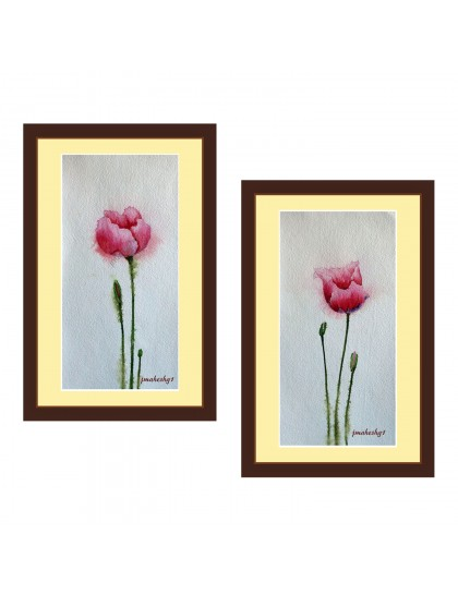 Beautiful Flower Painting (Set of 2)