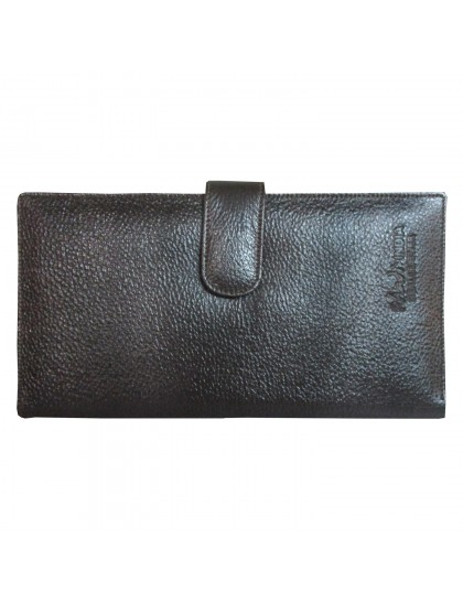 Khadi India Dark Brown Leather Holder Cum Wallet