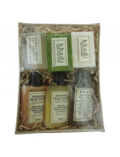 Khadi India Gift Pack Beauty Care Set (Khadi India Soaps, Moisturizer, Conditioner & Shampoo)
