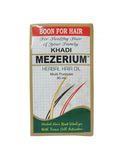 Khadi India Mezerium Herbal Hair Oil Multi Purpose (30ml)