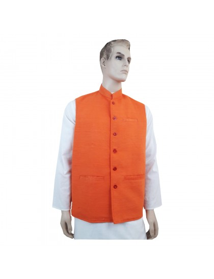 Khadi India Cotton Jacket Ethnic Style For Party Wear (Size-44)