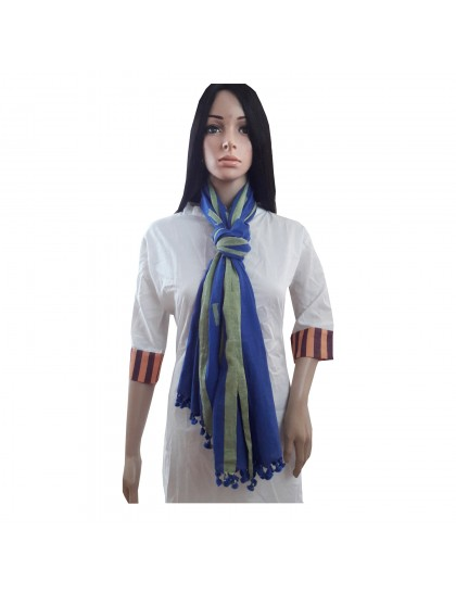 Khadi India Women's Silk Cotton Casual Printed Stole scarf