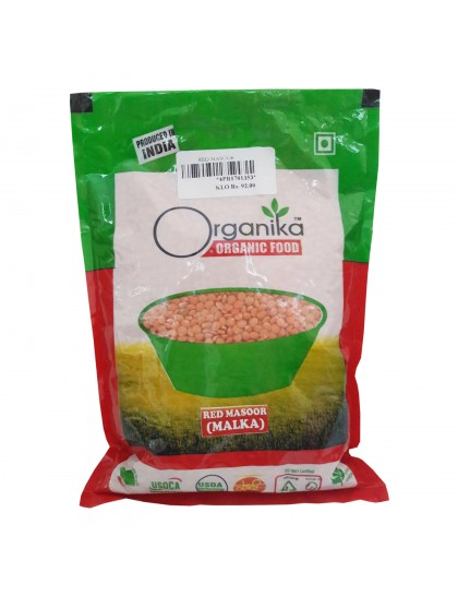 Khadi India Organika Organic Food Red Masoor  (500gm)