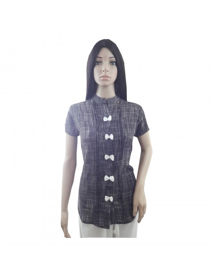 Khadi India Cotton Khadi Silk Shirt For Women (Large)
