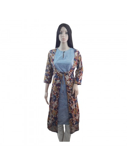 Khadi India Women Printed Kurti For Festive & Party (Size- 40)