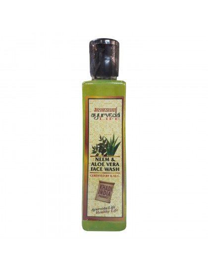 Khadi India Janakshahi Ayurveda Life Neem & Aloe-vera Face Wash(200ml)