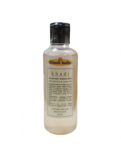 Khadi India Aoramatic Bubble Bath With Jasmin & Lavender (210ml)