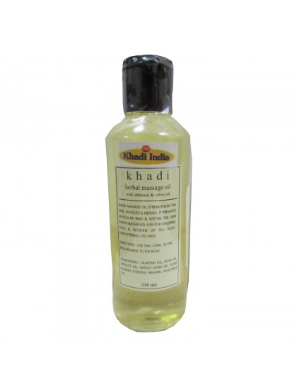 Khadi India Herbal Massage Oil With Almond & Olive Oil (210ml)