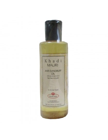 Khadi India Mauri Anti Dandruff Hair Oil  (210ml)