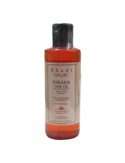 Khadi India Mauri Shikakai Hair Oil With Natural Extracts Of Heena, Neem & Brahmi (210ml)