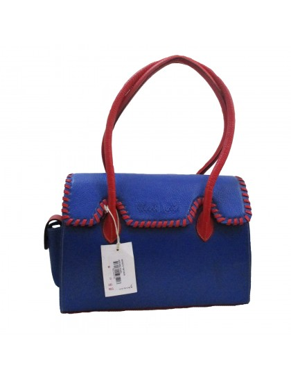 Khadi India Women Shoulder Bag (Blue)