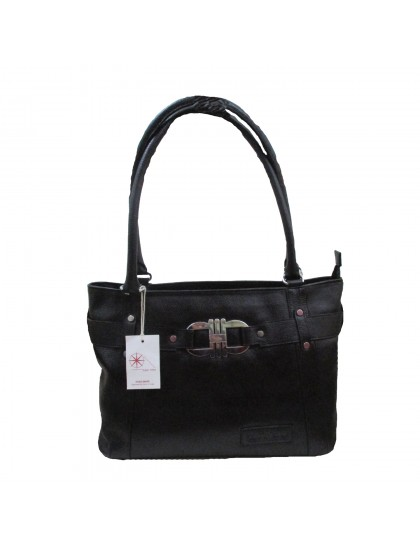 Khadi India Women Shoulder Bag (Black)