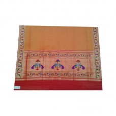 Asvali Orange Color Saree