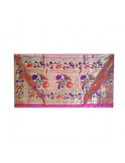 AJanta Lotas Pink Colored Saree
