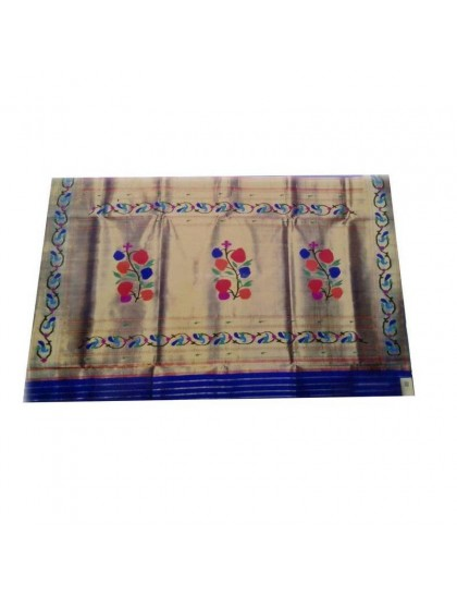 Asvli Dark Blue Colored Saree