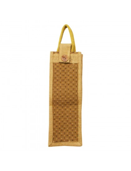 Jute Water Bottle Cover - Brown
