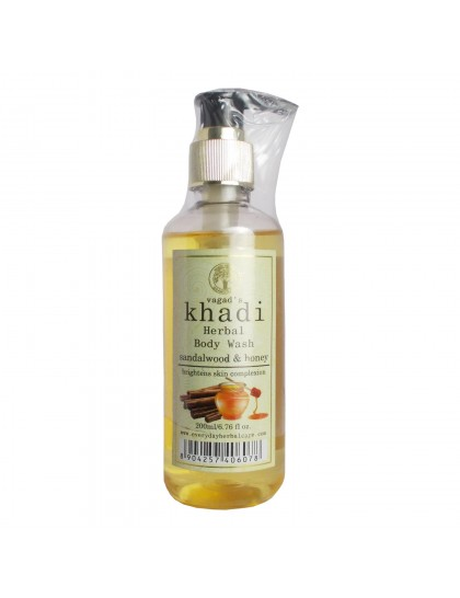 Khadi India Herbal Body Wash-Sandalwood & Honey (200ml)