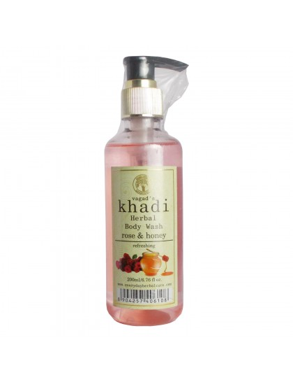 Khadi India Herbal Body Wash-Rose & Honey (200ml)