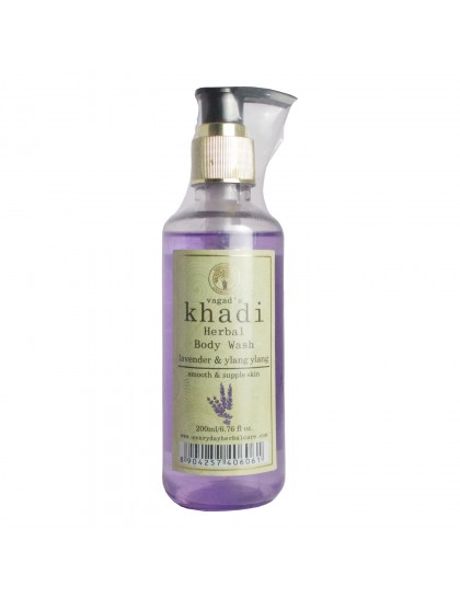 Khadi India Herbal Body Wash-Lavender & Ylang-Ylang (200ml)