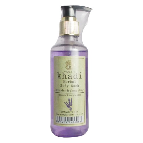Khadi Herbal Body Wash-Lavender & Ylang-Ylang (200ml)
