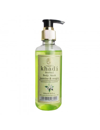 Khadi India Herbal Body Wash-Jasmine & Mogra (200ml)