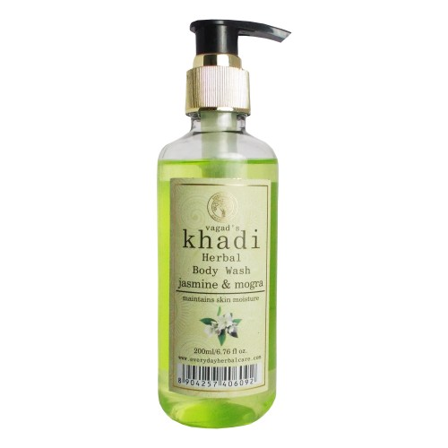 Khadi Herbal Body Wash-Jasmine & Mogra (200ml)
