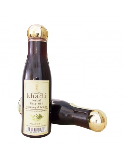Khadi India Herbal Hair Oil-Rosemary & Henna (200ml)