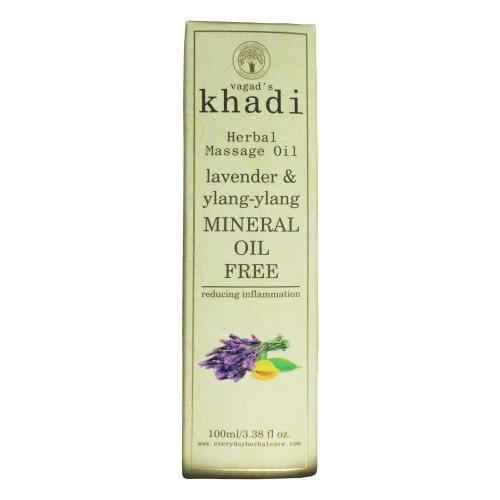 Khadi India Herbal  Massage Oil-Lavender & Ylang-Ylang (100ml)