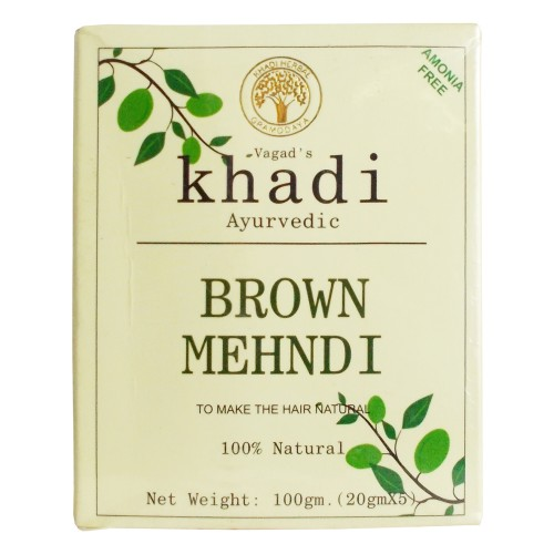 Khadi India Ayurvedic Brown Mehndi (100g)