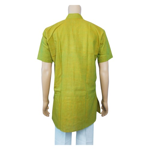 Khadi Cotton Men's Kurta - Green (Size-38)