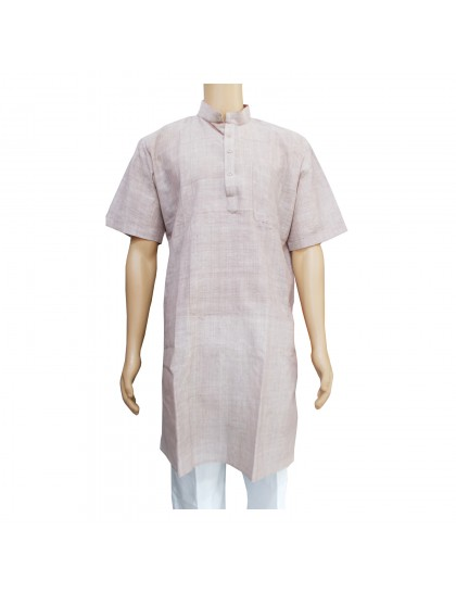 Khadi Cotton Men's Kurta - Light Brown (Size-42)