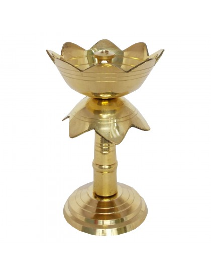 Handcrafted Brass Lotus Design Diya/Dipak