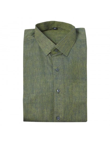 Khadi Cotton Shirt -Green (Size - XXL)