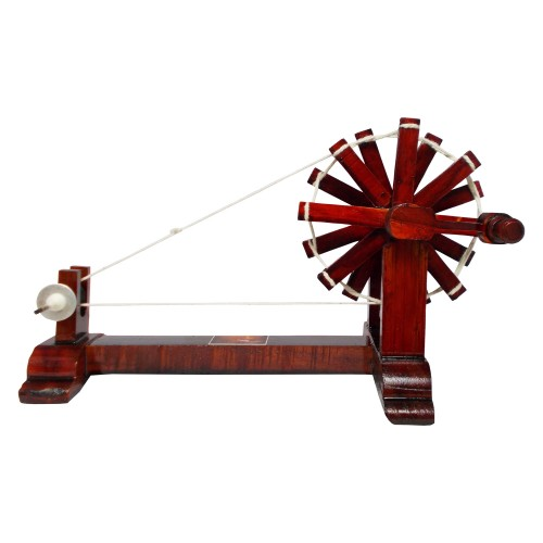 Handmade Wooden Charkha / Spinning Wheel