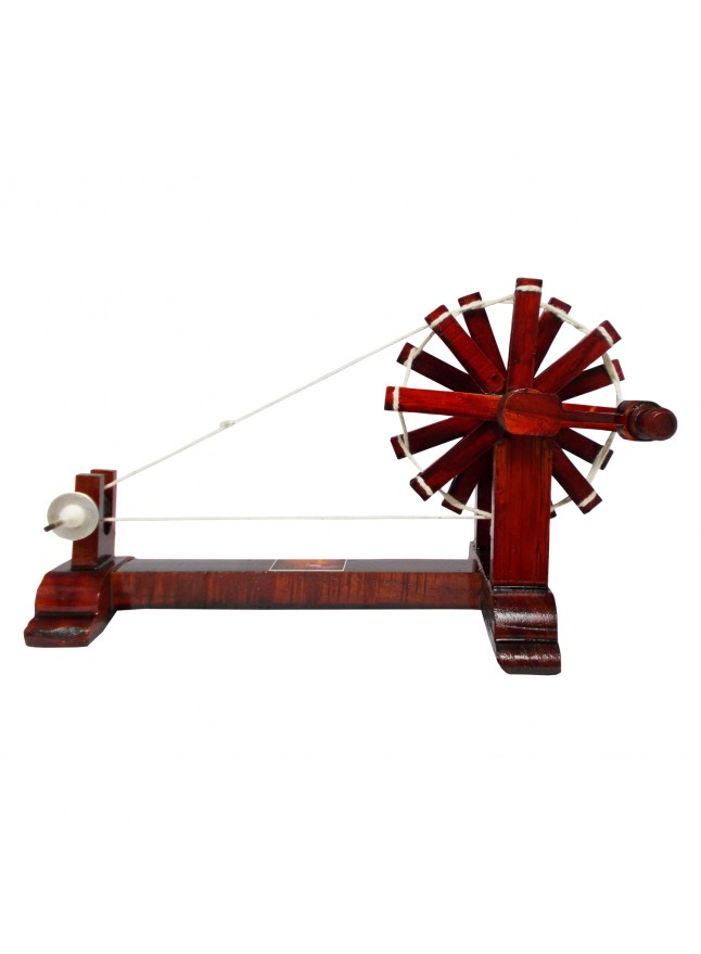 Buy Handmade Wooden Charkha / Spinning Wheel on Aarmart
