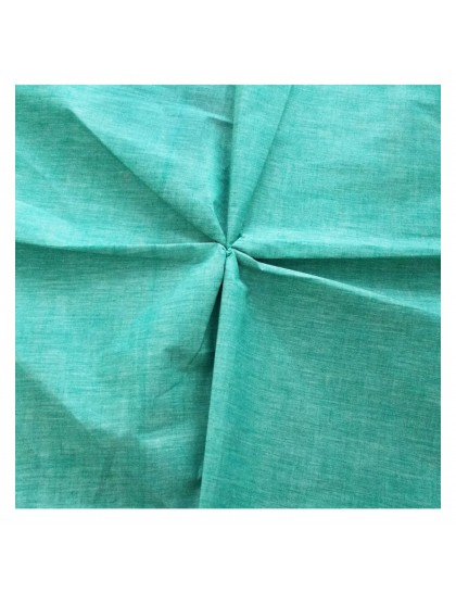 Khadi India Cotton Cloth Material - Aqua Green