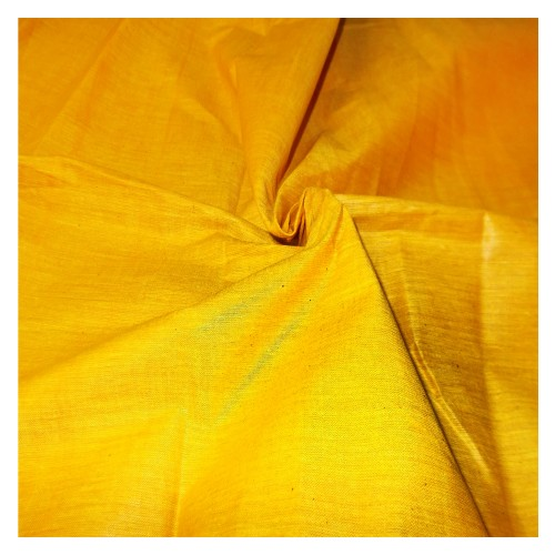 Khadi India Cotton Cloth Material - (Yellow)