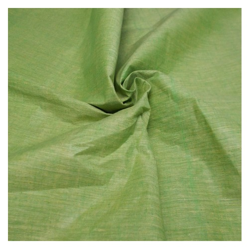 Khadi India Cotton Cloth Material - Light Parrot Green